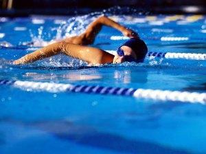 Continue a nadar no inverno